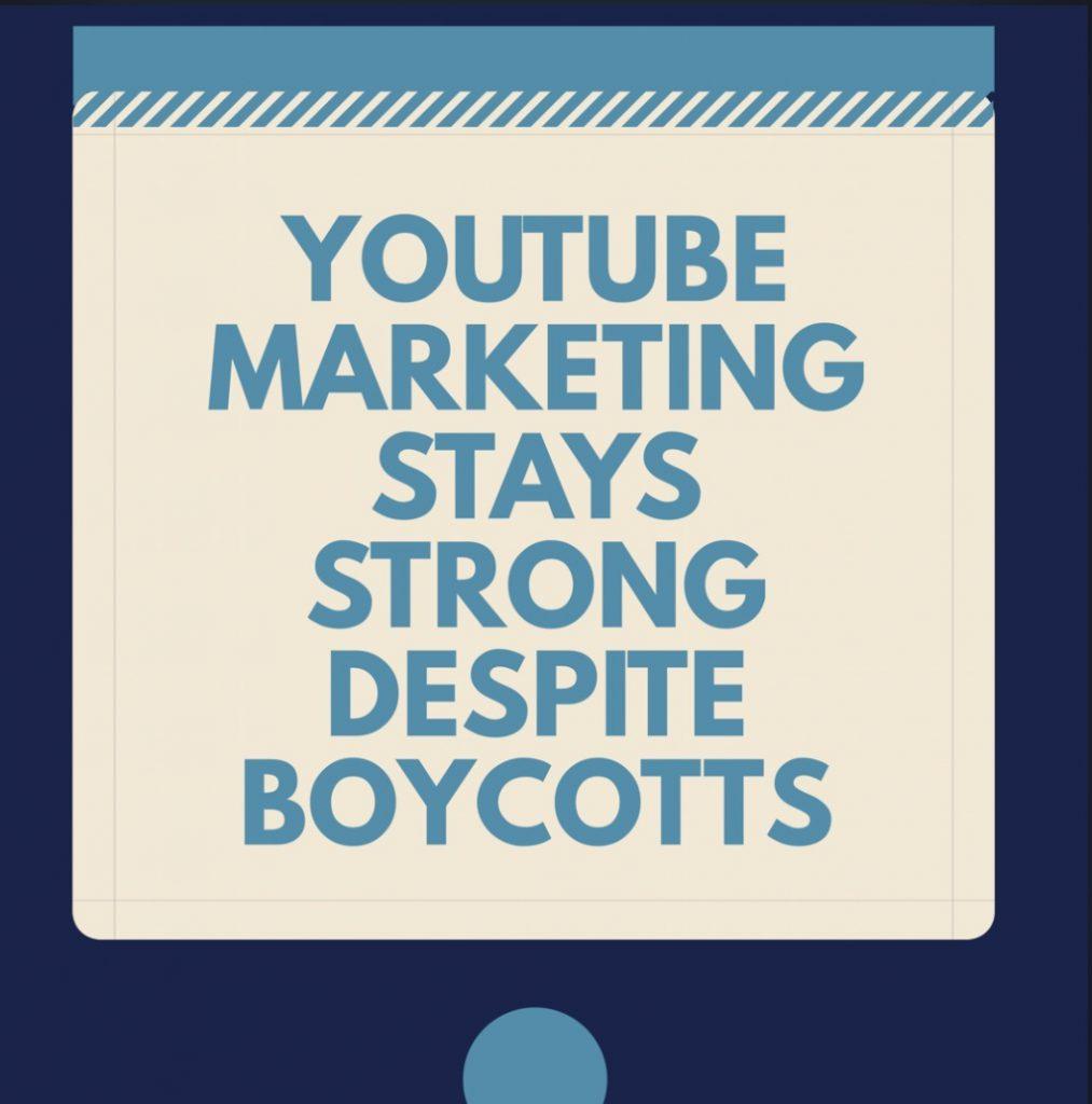 Youtube Marketing stays Strong Deposit Boycotts