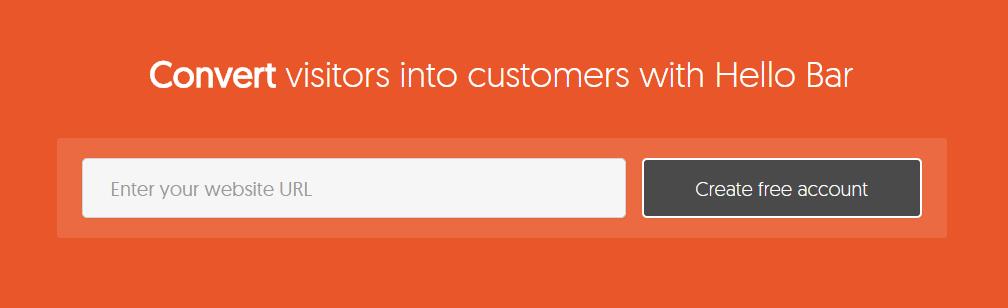 Web Page Optimization Hello Bar