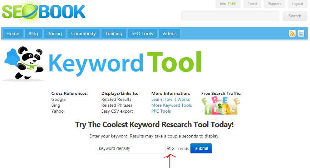 Web Page Optimization Keyword Density