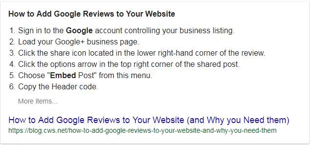 Branding Embed Google Reviews on Website