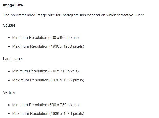 Instagram Ads Cost Image Requirements